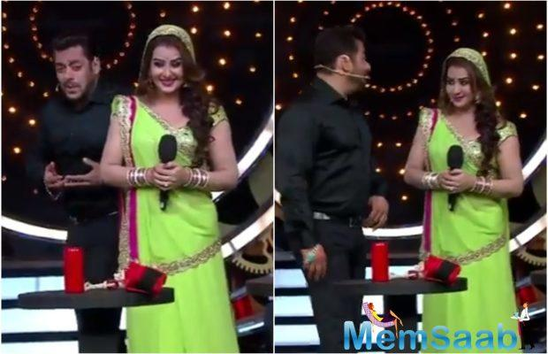 Out front of the winning announcement, Salman Khan met the contestants through the live TV in the home, when Shilpa Shinde was asked about how she brought off to gather such a massive fan following.