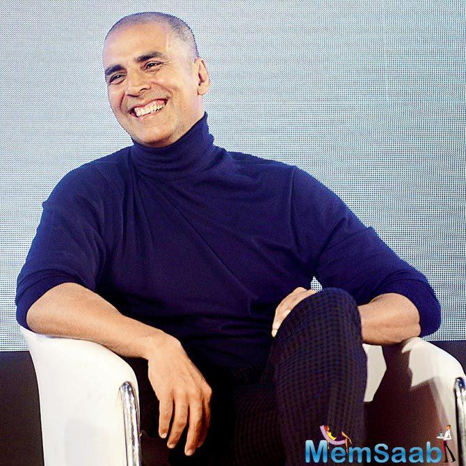 While promoting on a TV show, the actor revealed that he had shaved his pate for his next, Kesari.