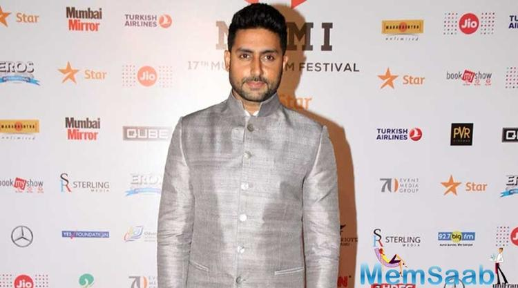 """Abhishek, who was at the event, also represented his father there. """"He's fine, he has to rest. He had to get back to work again, so I have told him to rest,"""" says Abhishek, adding that his father is a workaholic."""