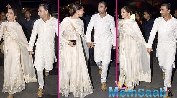 The two not only came for the screening together, but also did not shy away from the shutterbugs as they walked hand-in-hand, casually chatting and laughing.