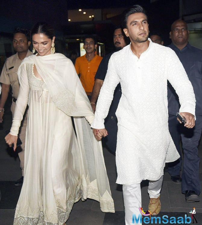 The two rumoured love-birds were recently spotted walking hand-in-hand at the special screening of their controversial film 'Padmaavat'.
