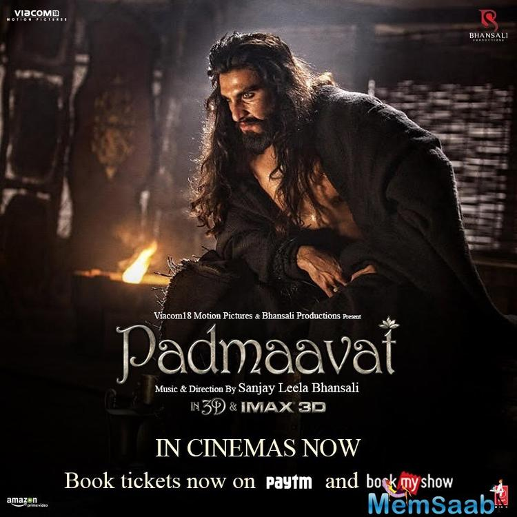 Till now, the film has received good reactions from the critics, with special mention to the 'Bajirao Mastani' star's portrayal of Alauddin Khilji.