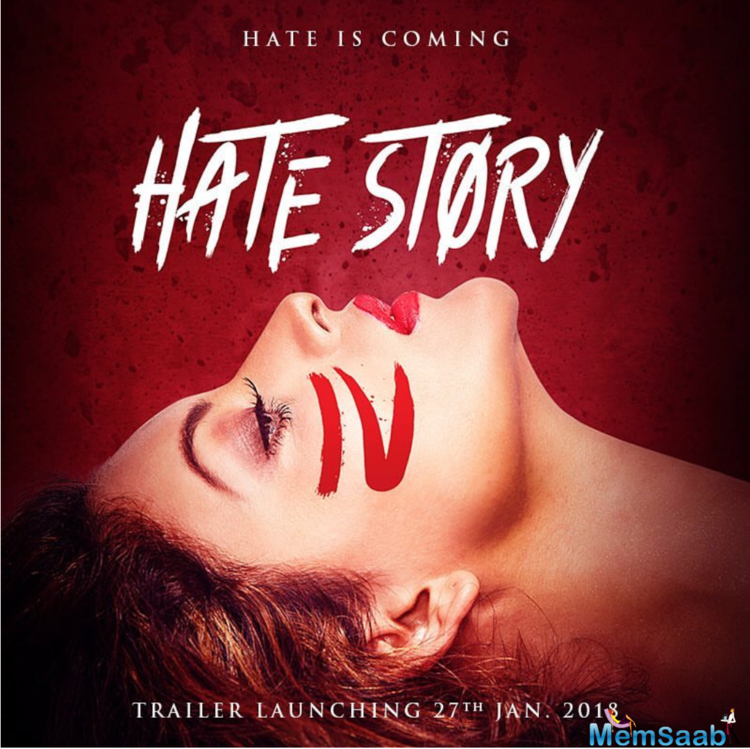 Urvashi Rautela is back with erotic thriller 'Hate Story 4', a fourth installment in Hate story series.