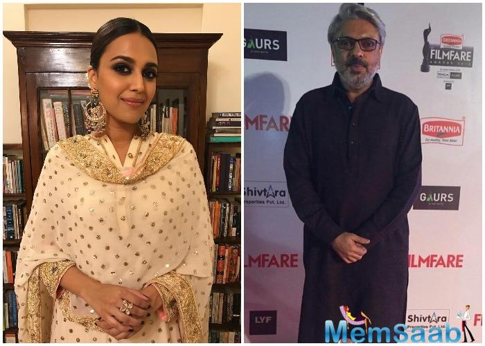 Swara Bhasker isn't pleased with Sanjay Leela Bhansali's Padmaavat.