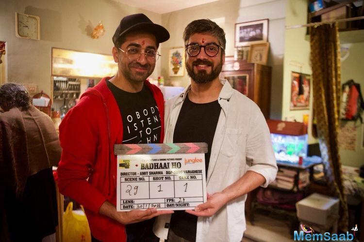Shooting for director Amit Sharma's film Badhaai Ho has commenced.