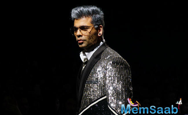 Apart from his leaner frame, Karan's new silvery hair colour became the hot topic of discussion for the night.