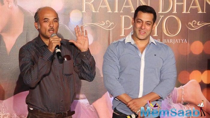 Latest is report that, director Sooraj Barjatya might be choosing another actor over Salman for his next home production.