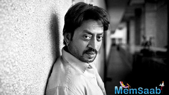 Versatile actor Irrfan Khan has shared the first look of his quirky comedy 'Blackmail'.