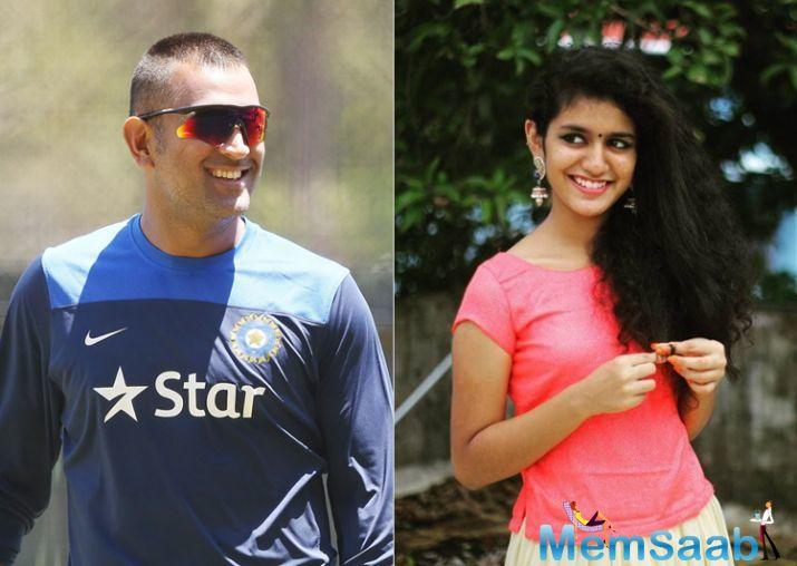 "During an interview, she said ""Dhoni is my favourite cricketer"