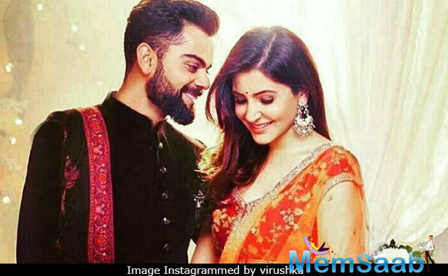Virat just shared a picture of the two sharing a passionate kiss on Instagram!