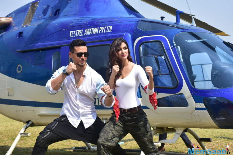 Disha said Tiger inspired her to shoot her own action sequences.
