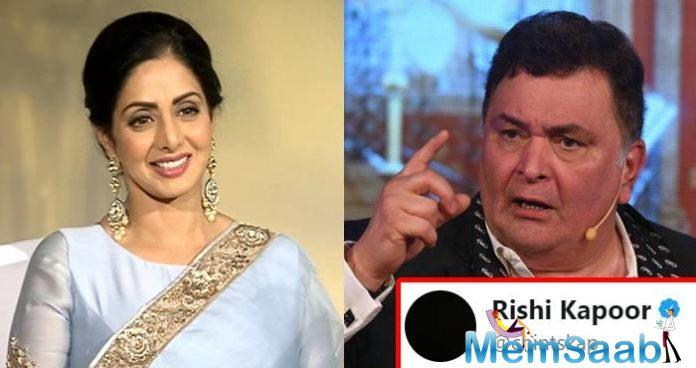 The media coverage of actress Sridevi's death has provoked a furious tweet from her Chandnico-star Rishi Kapoor who has objected to the late star's remains being referred to as the 'body.'