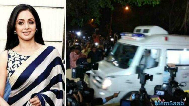 Her body was taken to her Lokhandwala residence last night where there was tight police security and private security men deployed for crowd management.