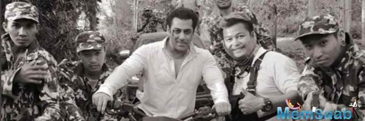 For Bollywood star Salman Khan, it was time to fire up those engines and zooming around the dense jungles of Thailand, as he shot for his upcoming actioner 'Race 3'.