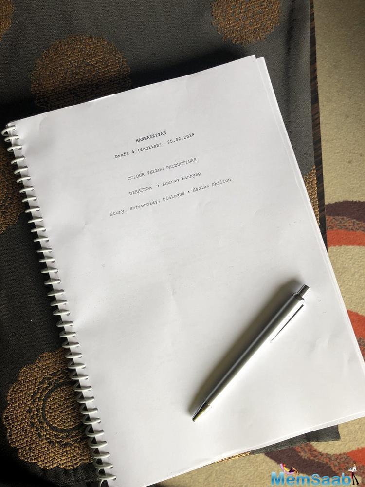 Abhishek Bachchan has started shooting for his upcoming film Manmarziyan.