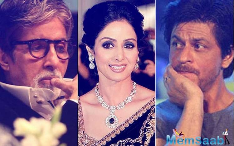 Not only Shah Rukh, but also Amitabh Bachchan dedicated Javed Akhtar's poem for Sridevi.