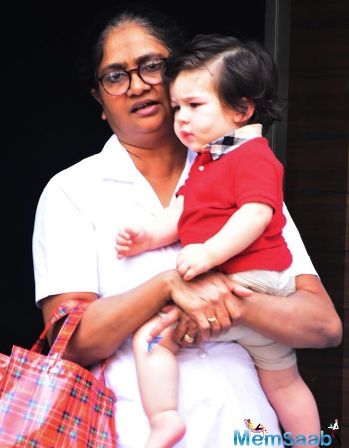 It looks like the Mumbai heat is getting the best of the little Nawab of cuteness, Taimur Ali Khan.