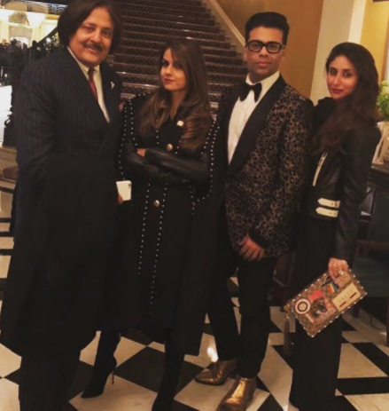In another series of pictures shared by Natasha and Poonam, they all looked relaxed and happy while they posed on the streets of London.