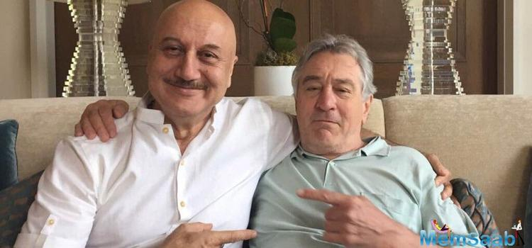 Kher revealed that the party was thrown by 'The Godfather' actor as a surprise for him at De Niro's home itself.