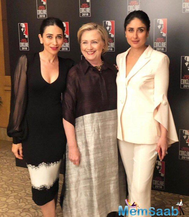 The actress was present at The India Today Conclave 2018 along with her sister Karishma Kapoor on Saturday.
