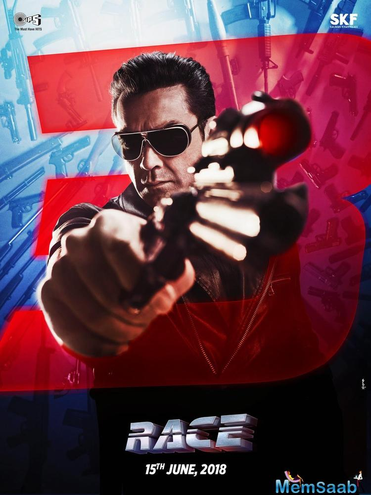 Taking to Twitter, Salman shared Bobby's new look from 'Race 3'.