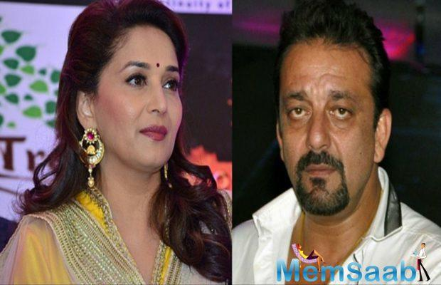 """Informs the source, """"There is no way Madhuri will work with Sanjay Dutt."""
