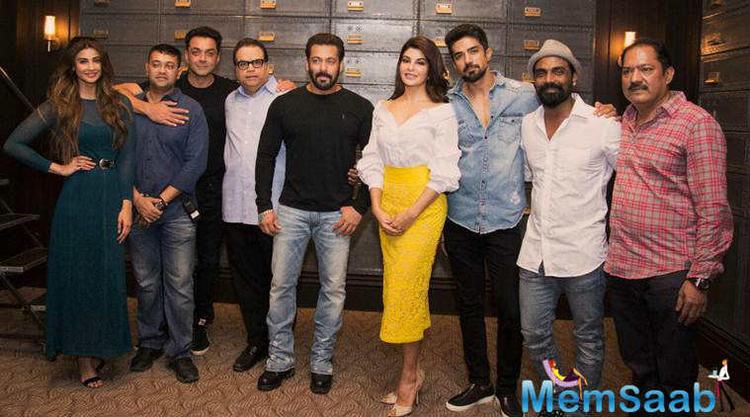 Salman Khan took to his social media to introduce Sanjana, Daisy Shah's character from the Race 3 team.