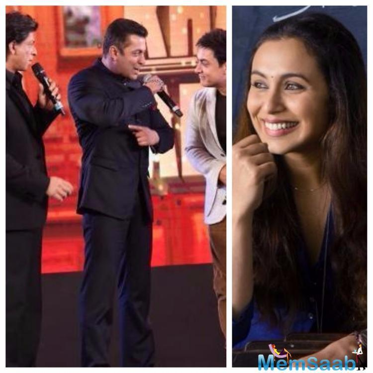 Salman Khan, Aamir Khan and Shah Rukh Khan might have not done a film together yet, but they have come forward to promote Rani Mukerji's Hichki that releases today.