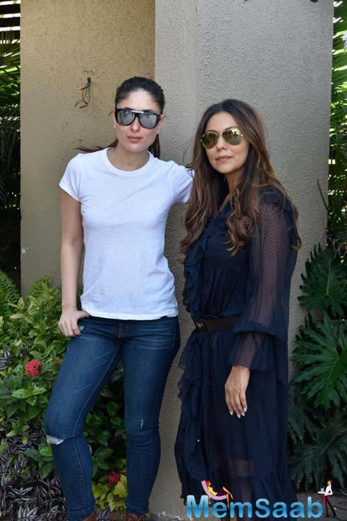 Kareena Kapoor Khan looked stylish as ever as she wore a basic white tee and jeans.