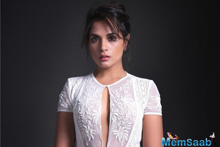 Richa Chadha after pleasantly surprising the audiences with her acting chops with her latest release 3 Storeys is seen attending courtrooms and meeting some of her lawyer friends.
