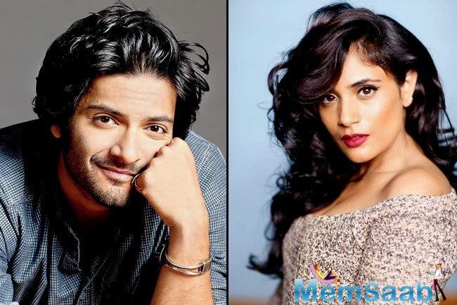 Lucknow being Ali Fazal's hometown made it easy for him to make necessary arrangements to deliver hot and fresh homemade vegetarian food to Richa Chadha.