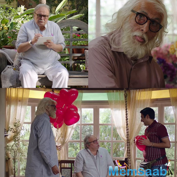 A grumpy Rishi Kapoor has no idea about romance and the song focuses on his sad journey behind writing a simple love letter, in a jolly way.