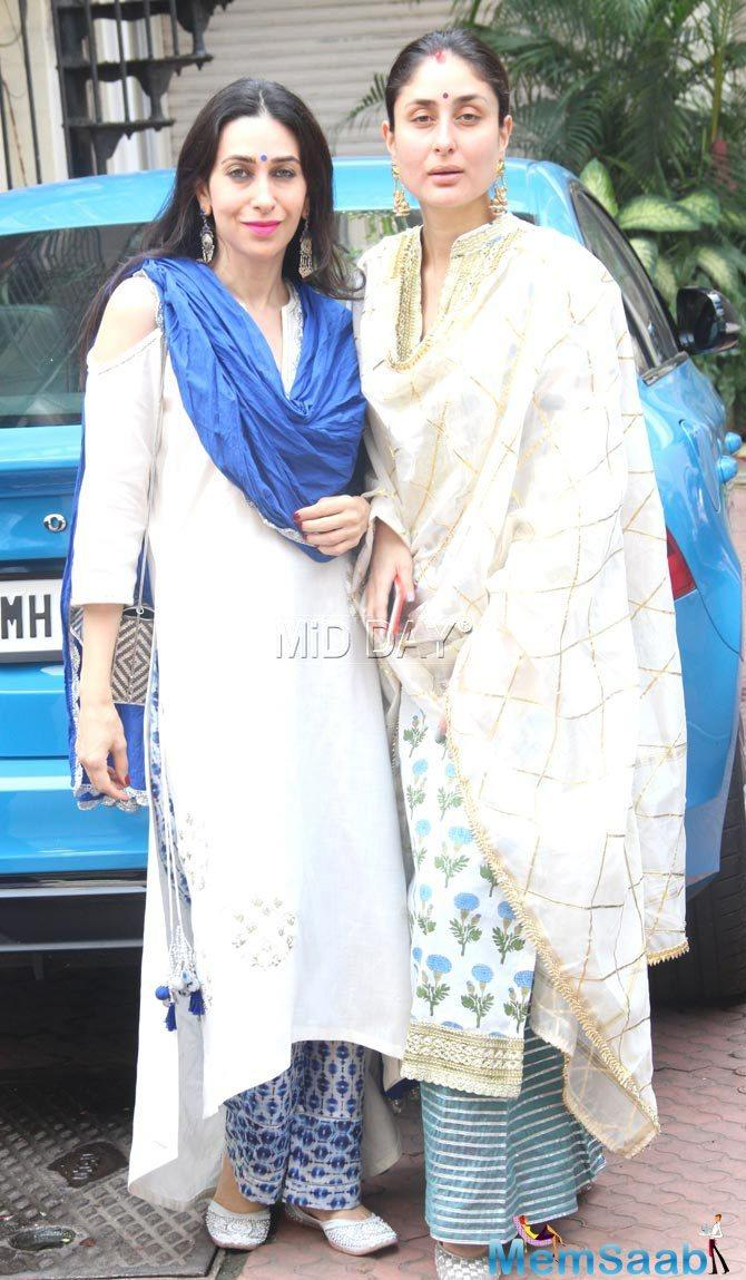 In an interview with a tabloid, Karisma was asked to describe the Kapoor sister's style statement.