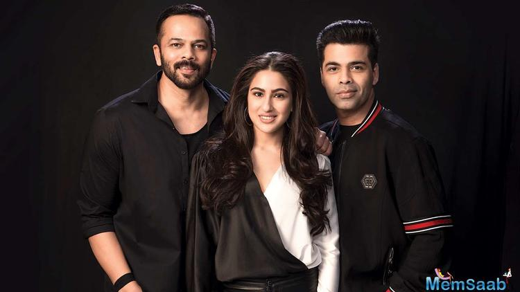 """But, the film was completely Ranveer Singh's and Karan had to ask director Rohit Shetty to modify the script to make more space for Sara. He didn't want her to debut as a prop,"""" the birdie says."""