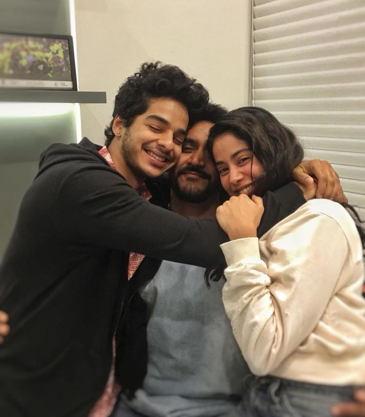 The three came together for a cute photo post the wrap of the film, giving each other a group hug.