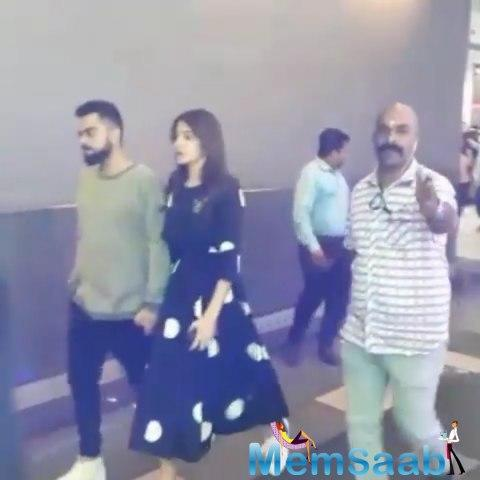 And her hubby and Indian skipper, Virat Kohli took his significant to watch Marvel's latest offering, Avengers: Infinity War shortly after posting an adorable picture with her on his Twitter account.