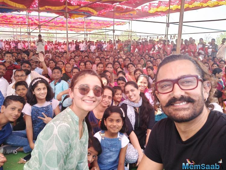 The event was organised by Aamir's Paani Foundation, which works in the area of water conservation.