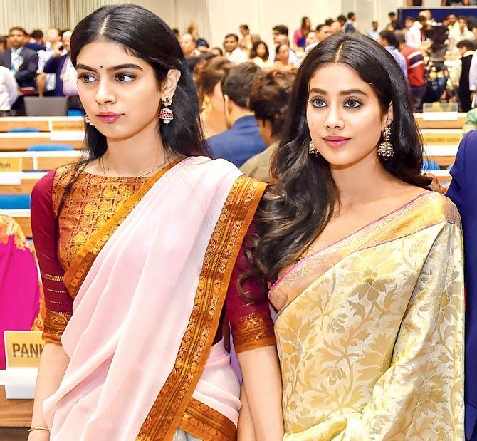 Janhvi Kapoor stepped out in mum Sridevi's saree at the National Film awards ceremony.