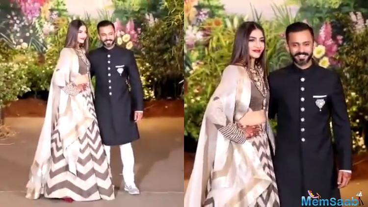 Anand Ahuja, on the other hand, looked cool as he opted for the classic black and white sherwani suit.