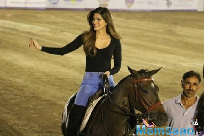 Kriti Sanon is taking up horse riding sessions for the upcoming period film