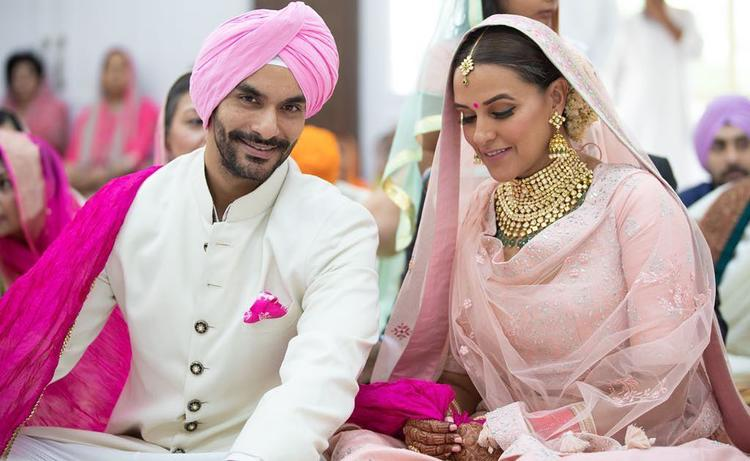 Neha Dhupia has surprised her fans by announcing her marriage with 'best friend' Angad Bedi.