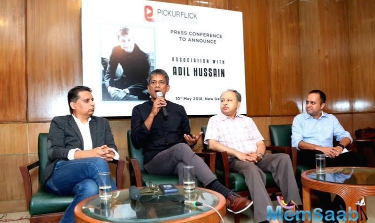 Actor Adil Hussain has been announced as the brand ambassador of streaming site Pickurflick.