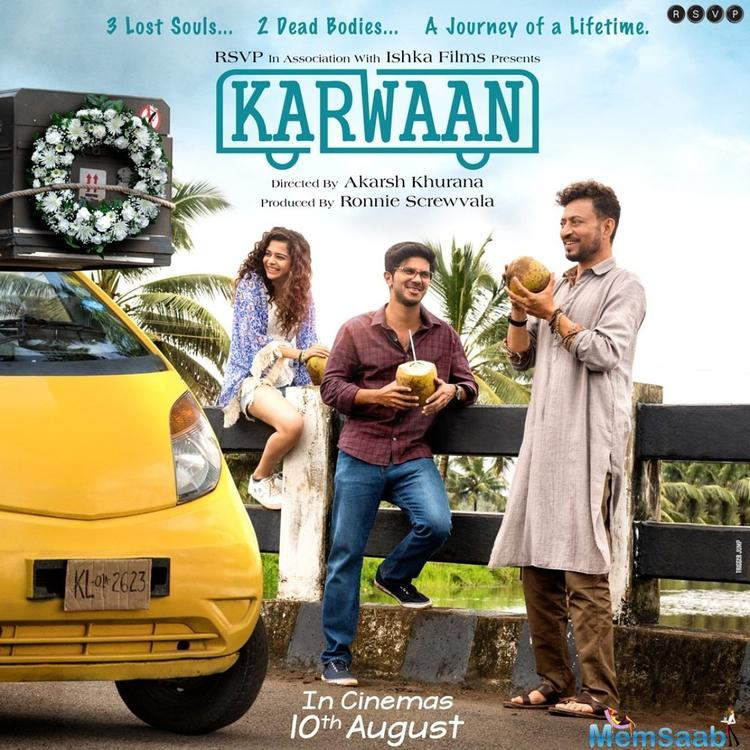 Bollywood star Irrfan Khan is back on Twitter after two months to talk about his upcoming film, 'Karwaan'.