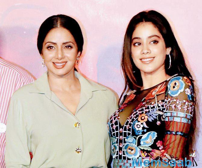 On Boney Kapoor's insistence, she even thanked the Government for the honour to Sridevi.