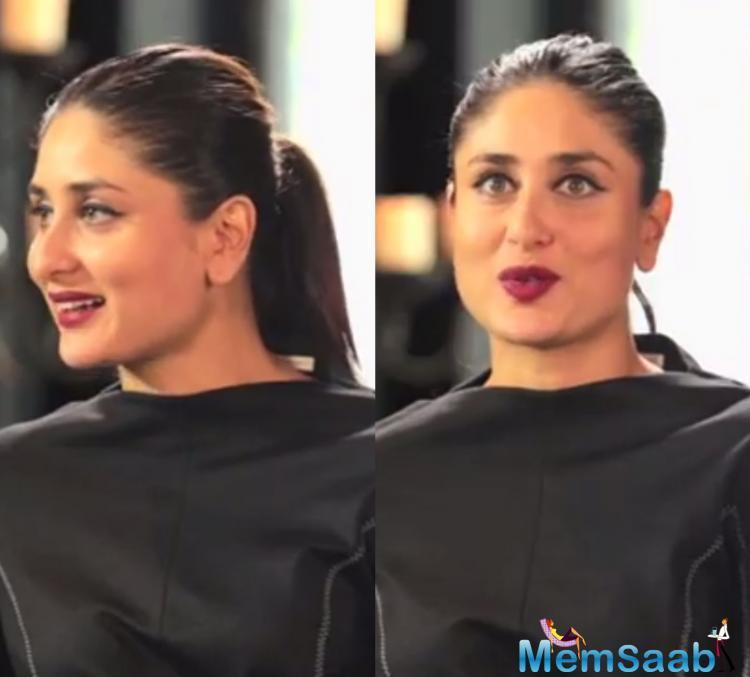 Asked about the idea of feminism, Kareena Kapoor said,