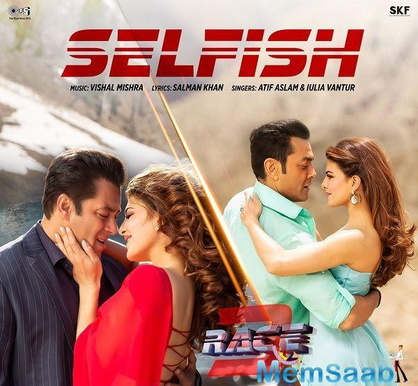 """Salman said in a statement, """"While discussing the creative for the song, I penned down a few thoughts on paper in sync with the plot of the film, which is about the selfishness within the family."""