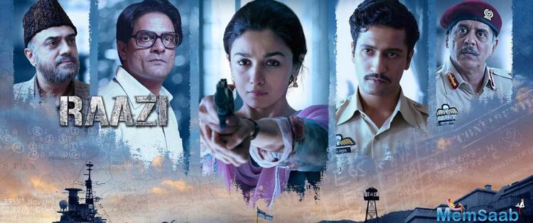 Raazi directed by Meghna Gulzar also stars Rajit Kapoor and Jaideep Ahlawat in pivotal roles.