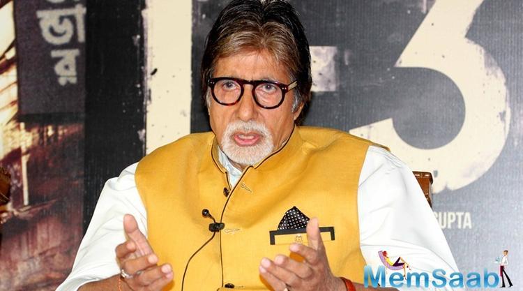 On Sunday, Amitabh Bachchan was shooting at the Chhatrapati Shivaji Maharaj Terminus.