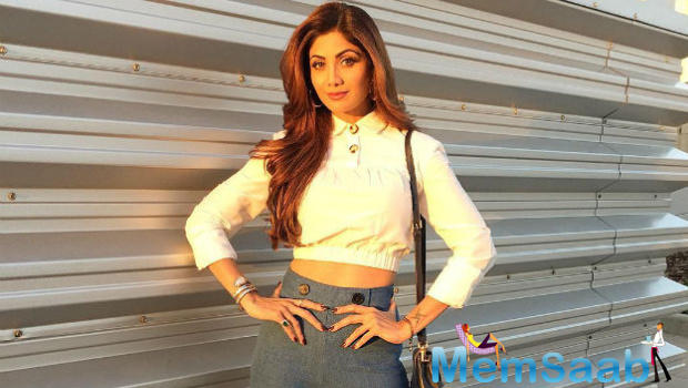 Recalling her post-pregnancy days when she gained those extra kilos,  Shilpa says she was not shying away from the media.