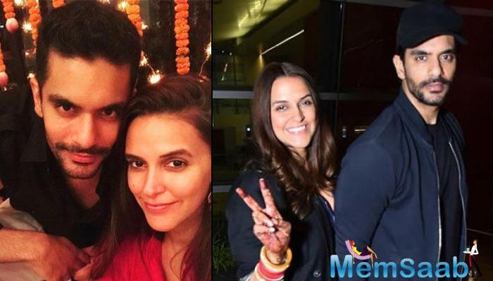 Angad Bedi has scotched rumours that wife Neha Dhupia is in the family way.
